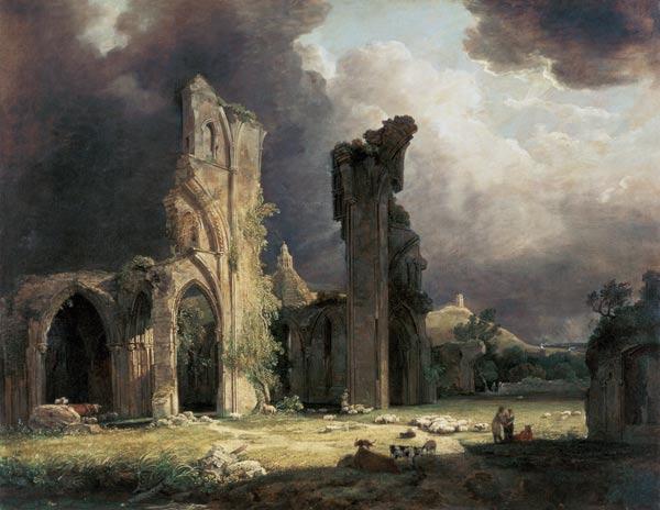 George Arnald - ruines de l'abbaye de Glastonbury